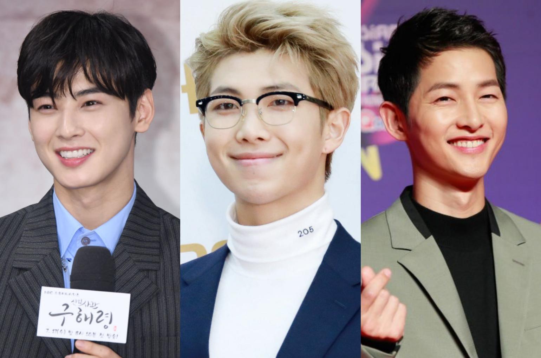 (L-R): Cha Eun-woo, BTS' RM, Song Joong-Ki