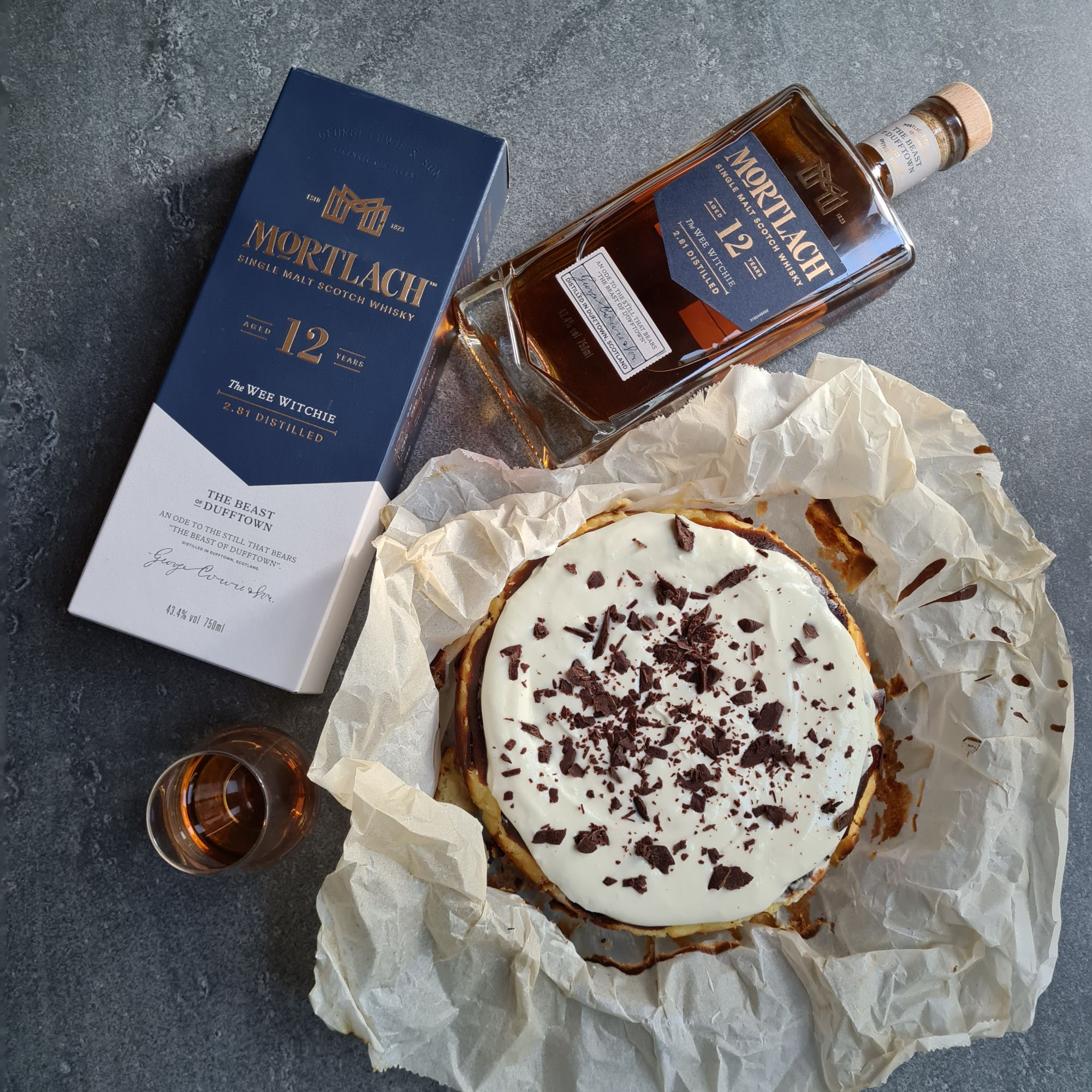 Mortlach Whisky and a Burnt Basque Cheesecake by Chele Gonzalez