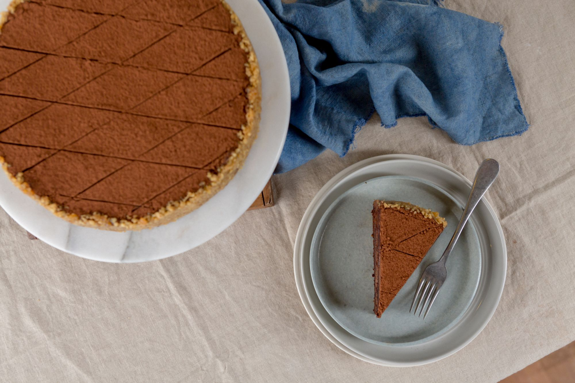 Invite dad to indulge in Nono's Chocolate Oblivion cake!