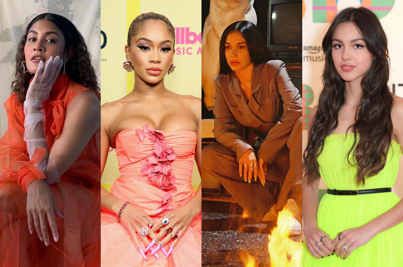 (L-R) Kiana V, Saweetie, Jess Connelly, Olivia Rodrigo. | Photo: Getty
