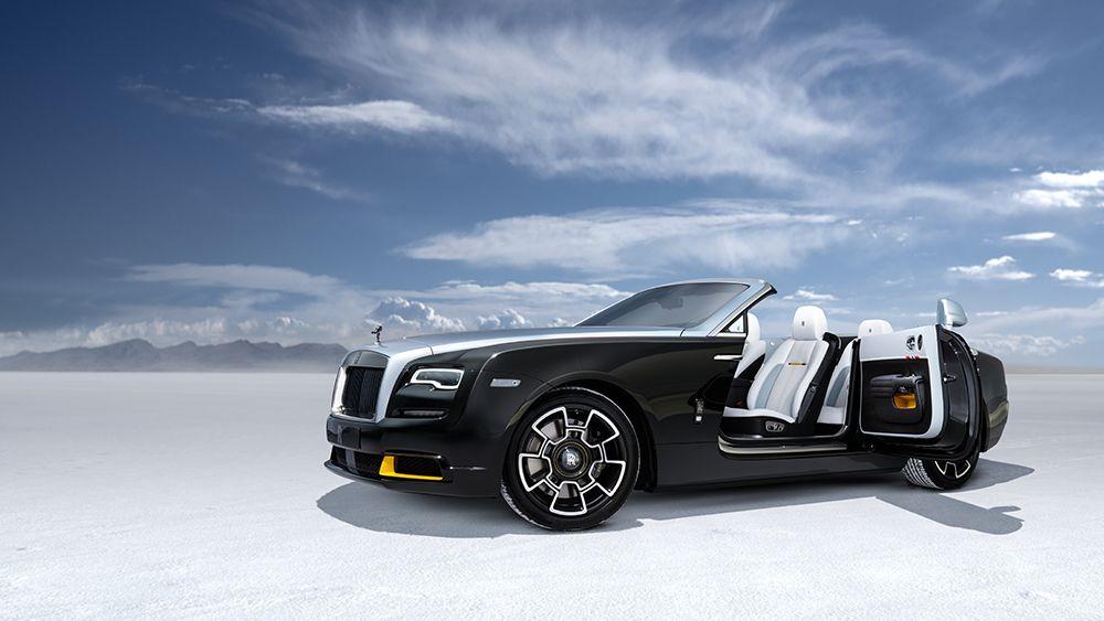 The limited-edition Rolls-Royce Dawn.
