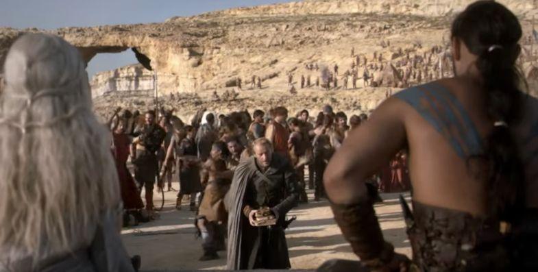 Daenerys Targaryen and  Khal Drogo's wedding at the Azure Window on Gozo Island. Photo: HBO