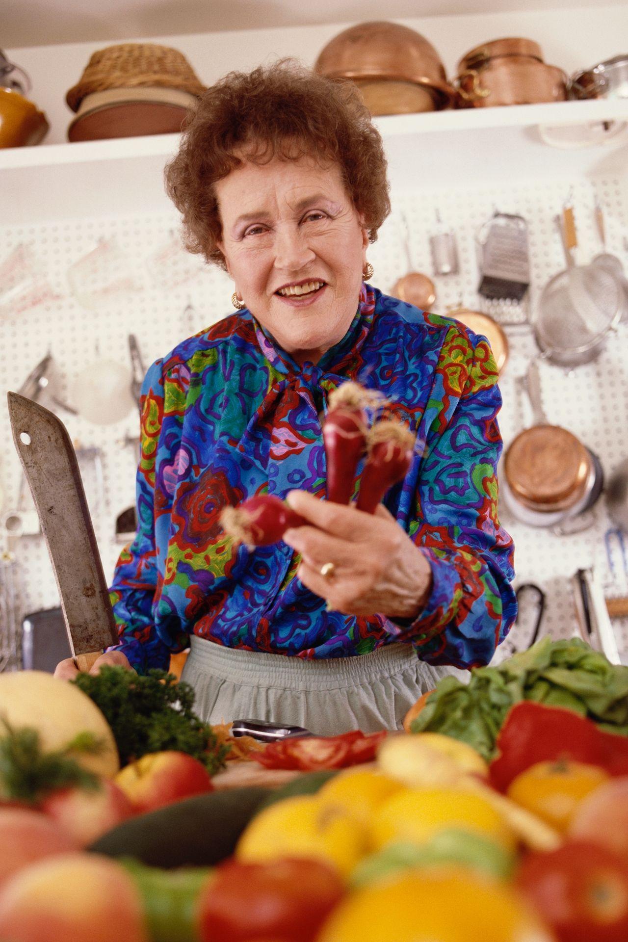 Julia Child in her kitchen (Photo by © Aaron Rapoport/CORBIS OUTLINE/Corbis via Getty Images)