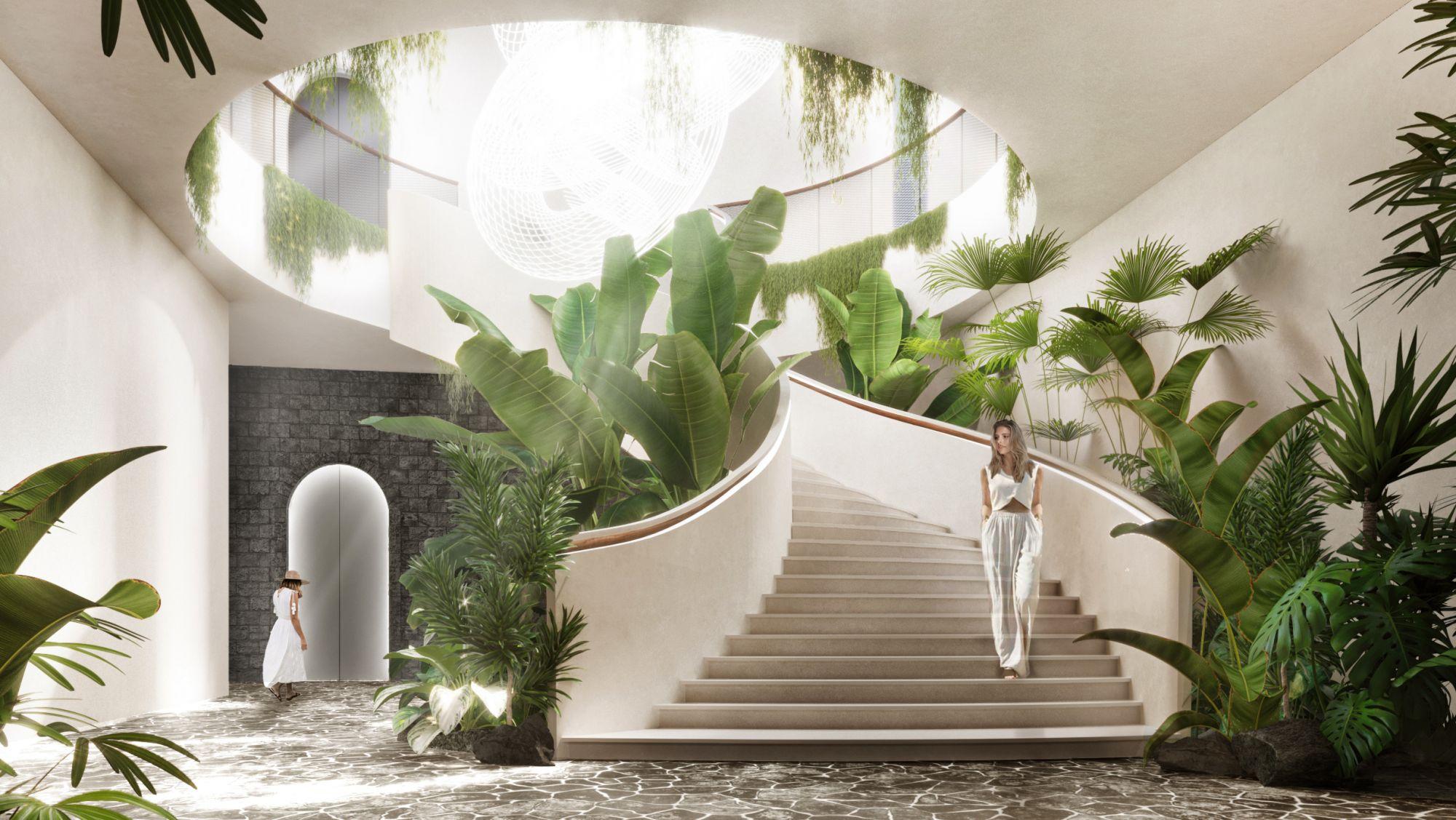 "The ""spiral journey"" to Abaca Resort Mactan by Büro Ole Scheeren"