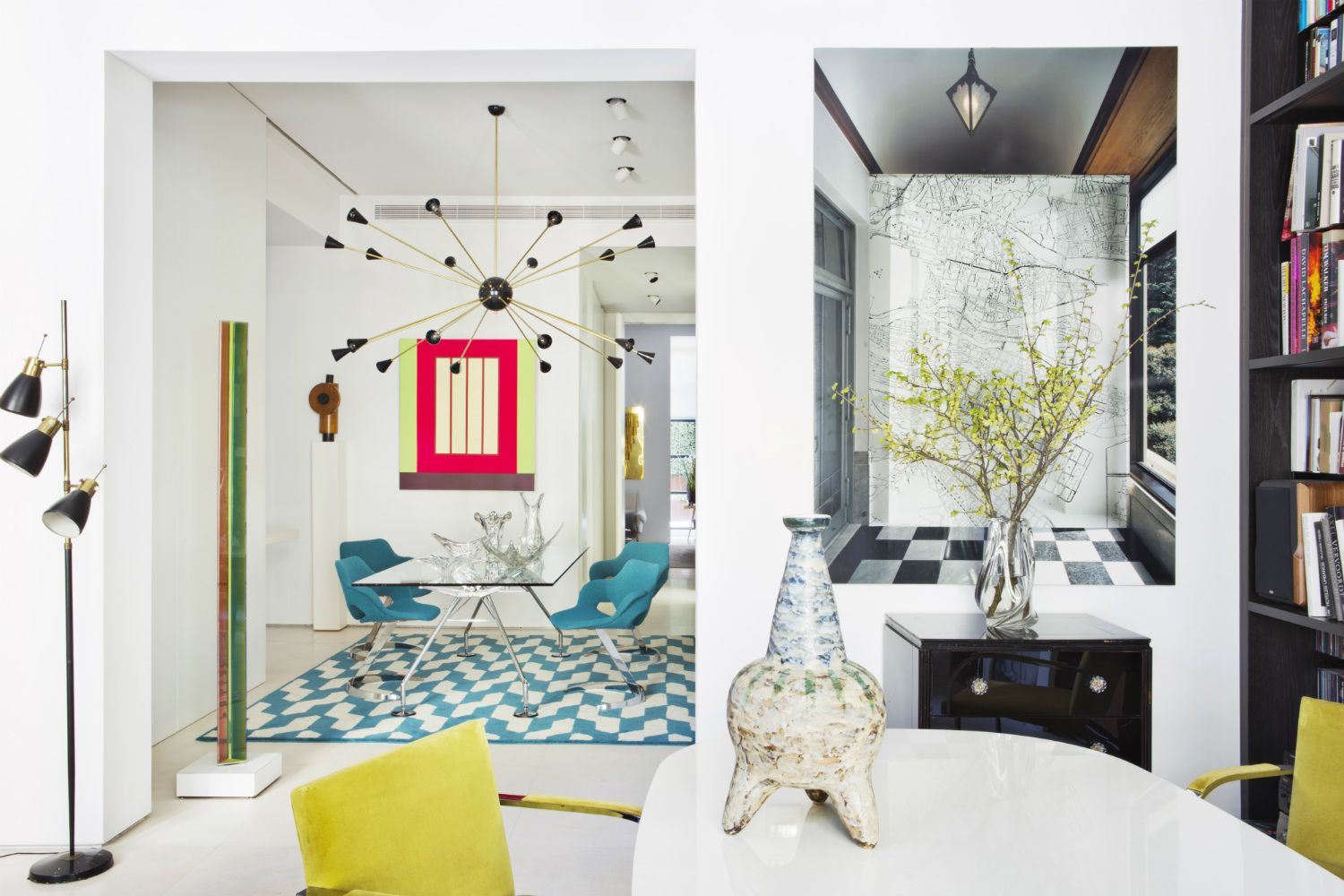 Home Tour: A Designer Transforms A Former Office Into His Colourful Apartment