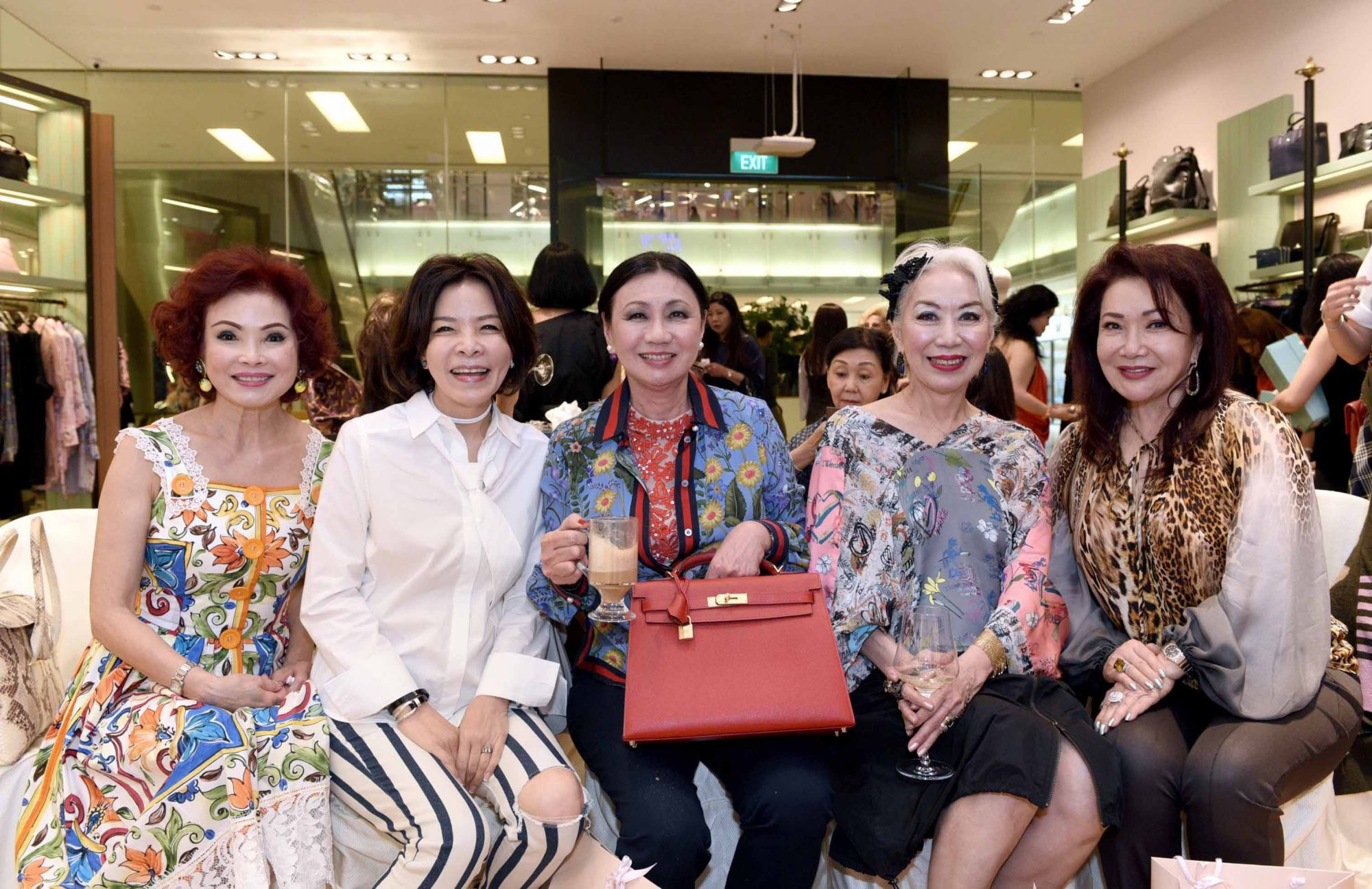 Linda Soo-Tan, Grace Wong, Renee Tan, Peggy Jeffs, Lotus Soh