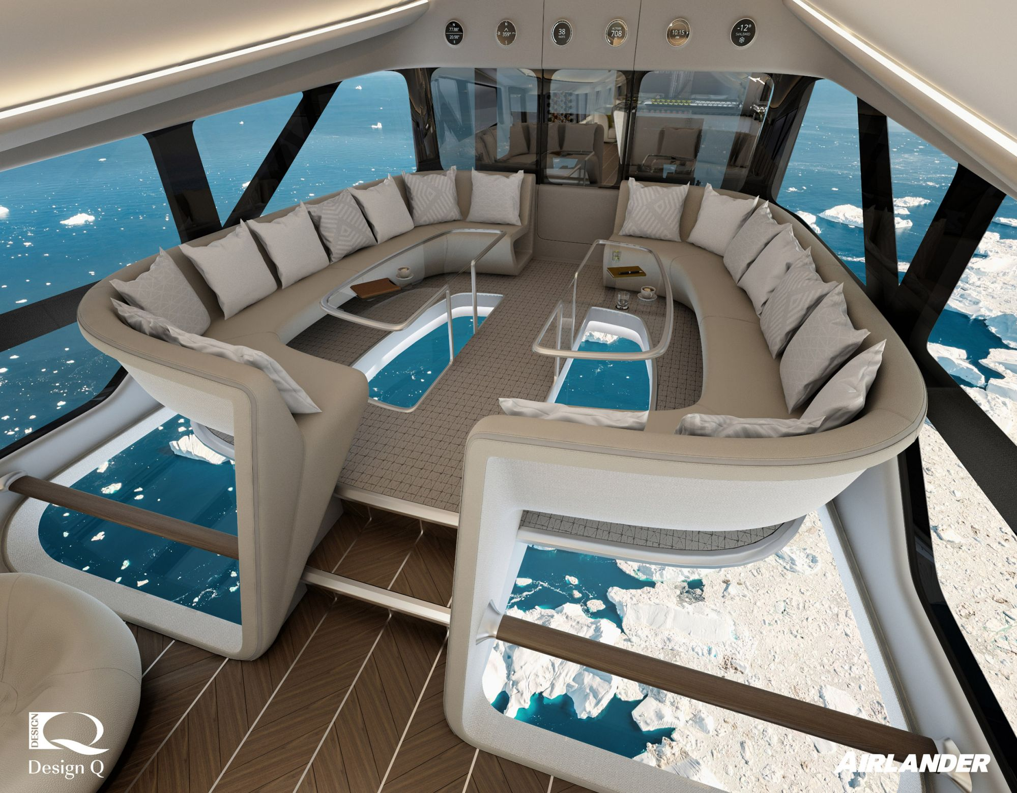 An Aircraft With A Glass-bottom Floor And En-suite Bedrooms?