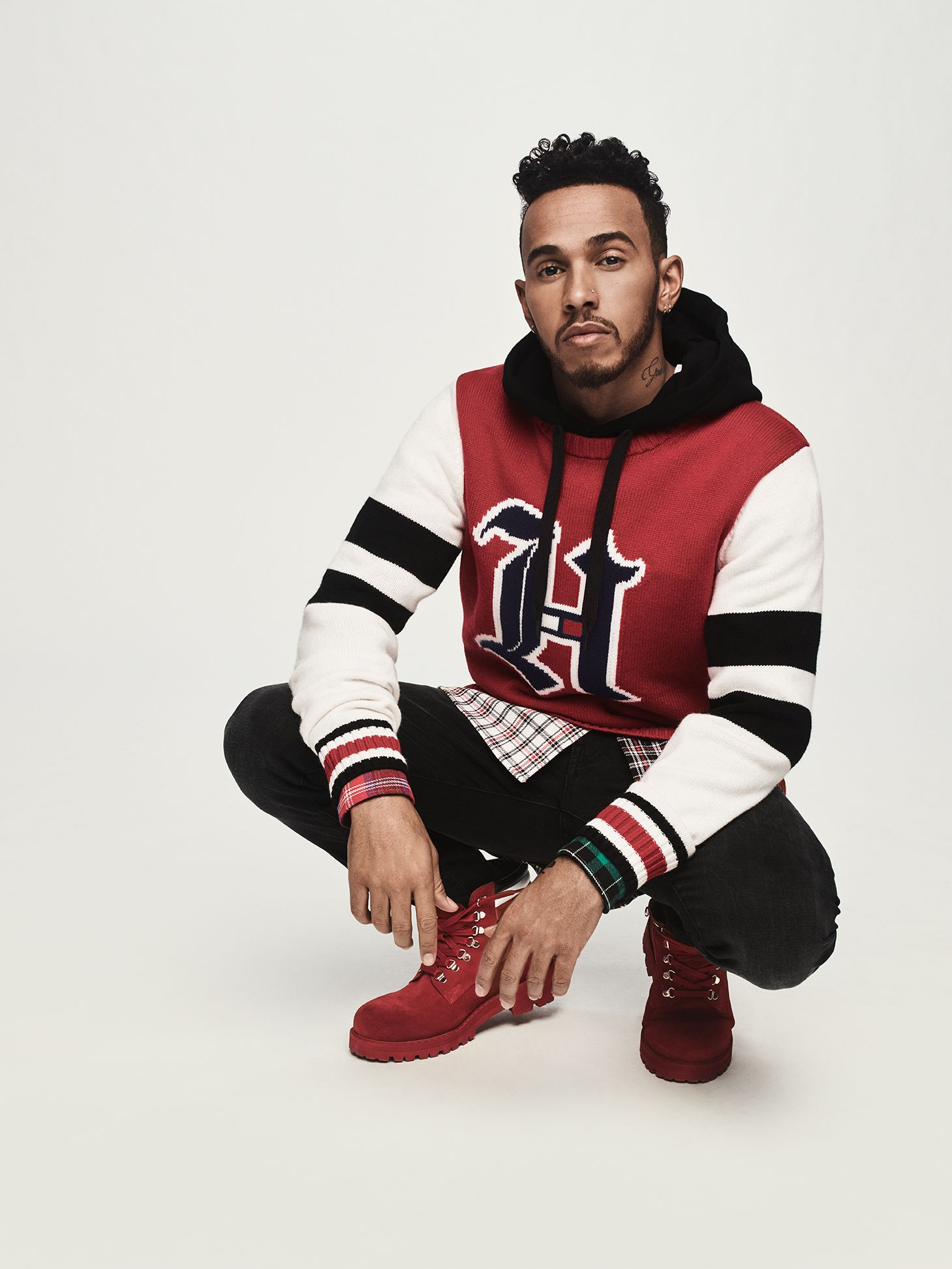 808cb443 Lewis Hamilton Launches Fashion Collection With Tommy Hilfiger ...