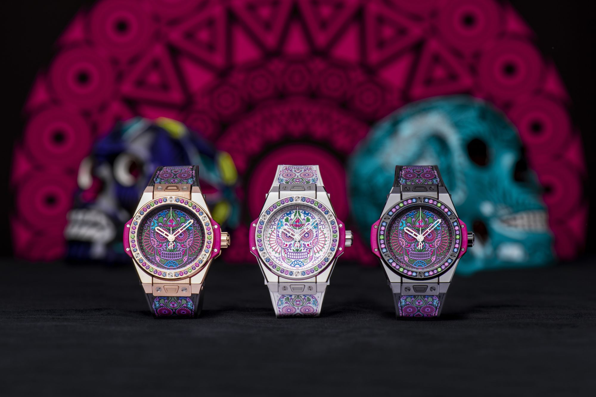 Big Bang One Click Calavera Catrina watches by Hublot (Photo: Courtesy of Hublot)