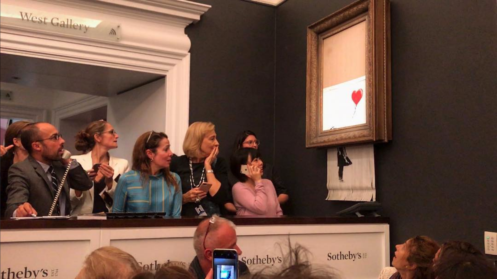 US$1.4m Banksy Painting That Shredded Itself May Become More Valuable