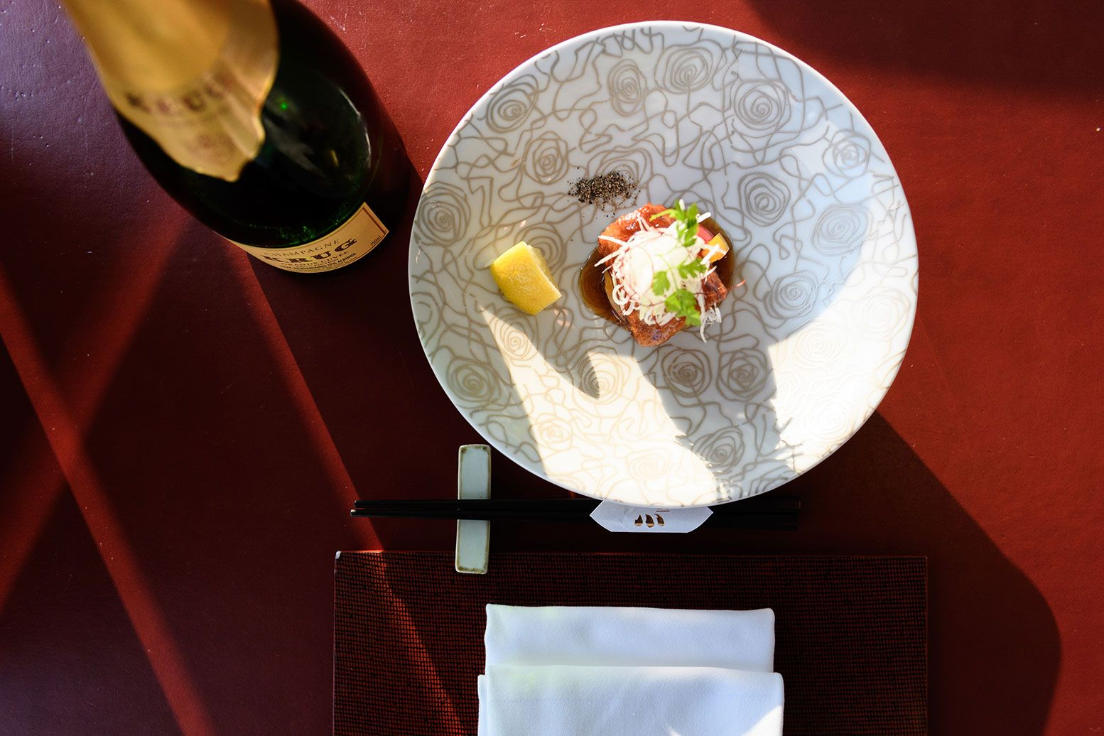 The Perfect Pairing Of Krug Champagne And Fish