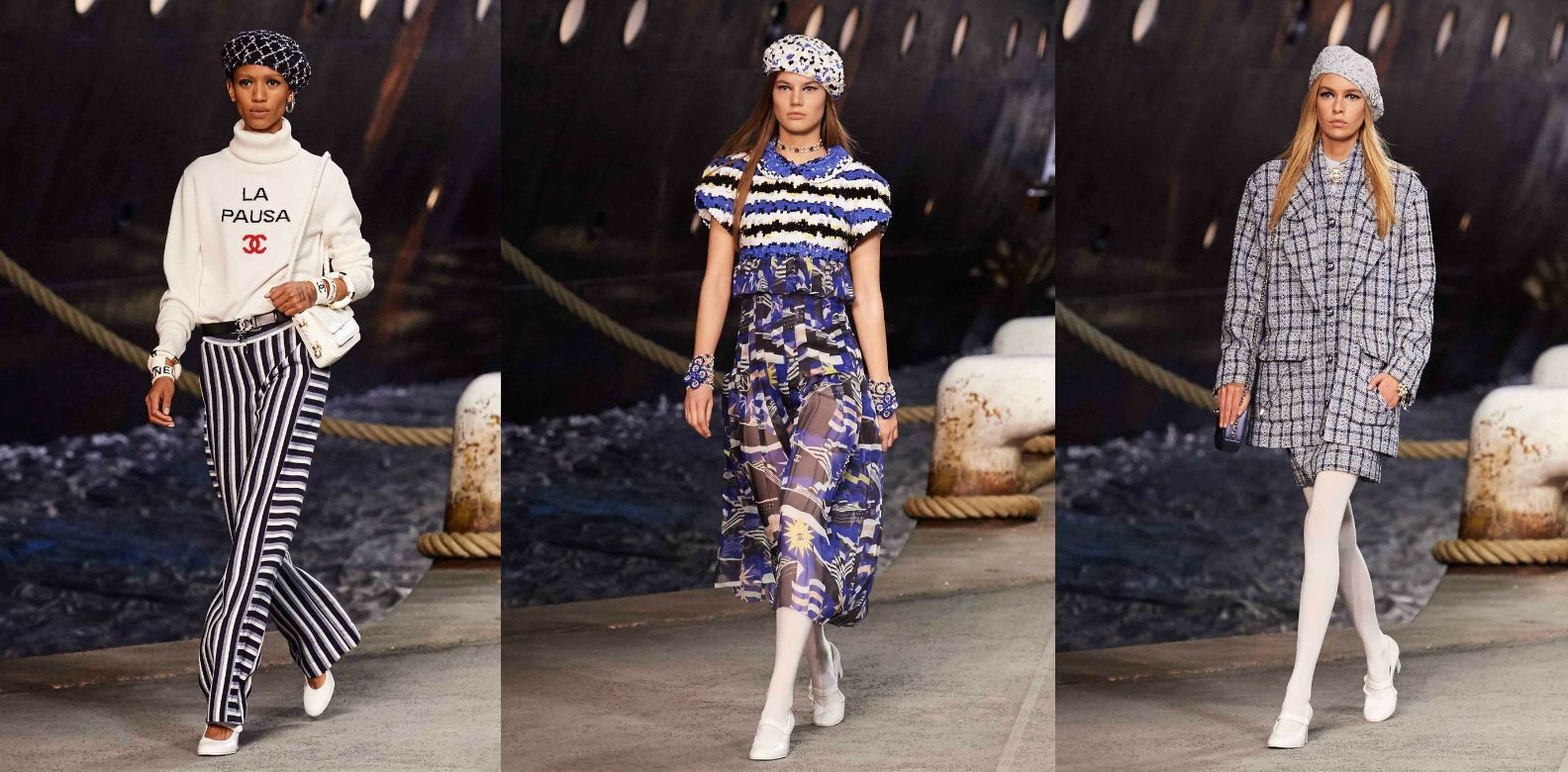 Chanel Takes Us On A Voyage With The Nautical Themed Cruise 2019 Show
