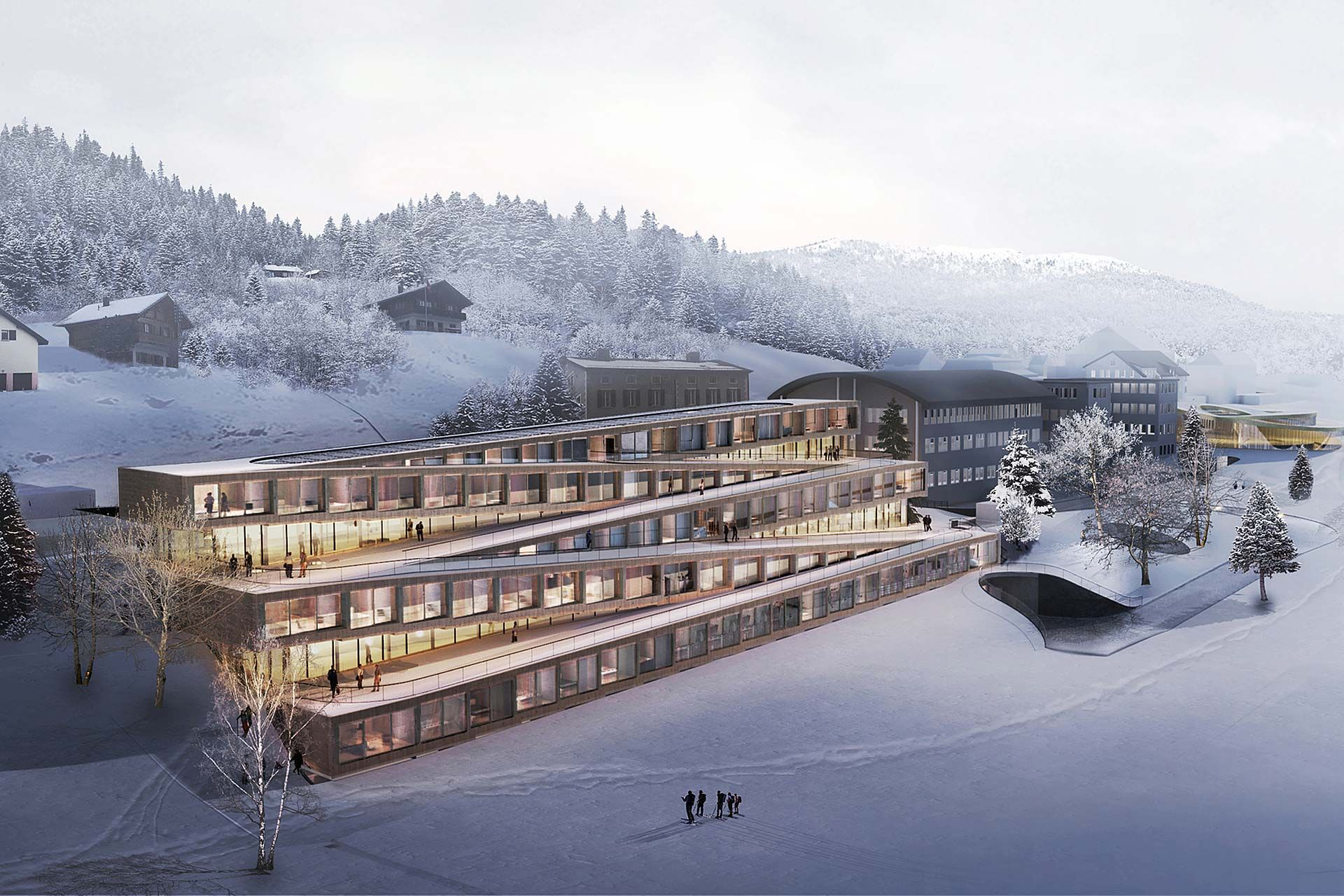 Audemars Piguet's Switzerland Hotel Lets Guests Ski Down The Roof