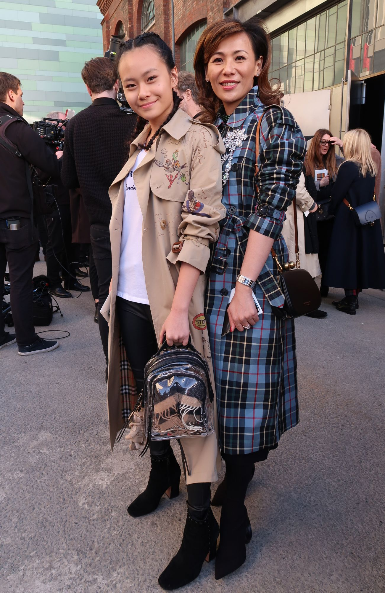 This Society Mum-And-Daughter Pair Were The Only Guests From Singapore Invited To Christopher Bailey's Last Burberry Show