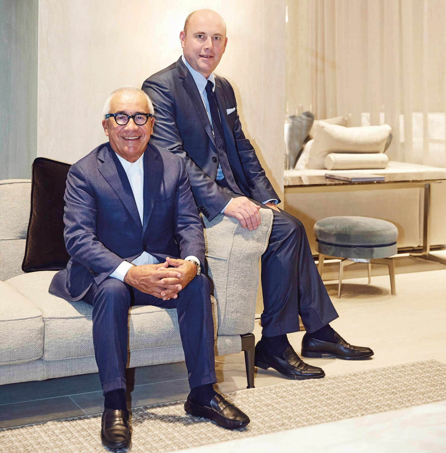 Pietro and Giuliano Galimberti of family-run Italian furniture brand Flexform