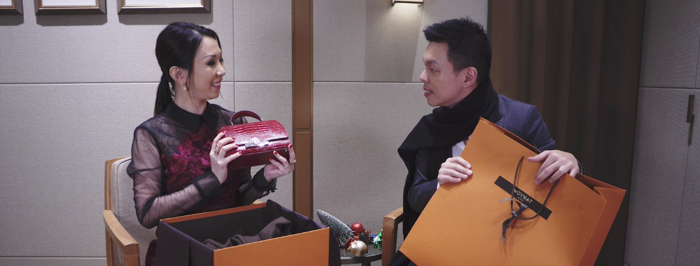 Loh May-Han and Adrian Ng Get Competitive Over Christmas Shopping