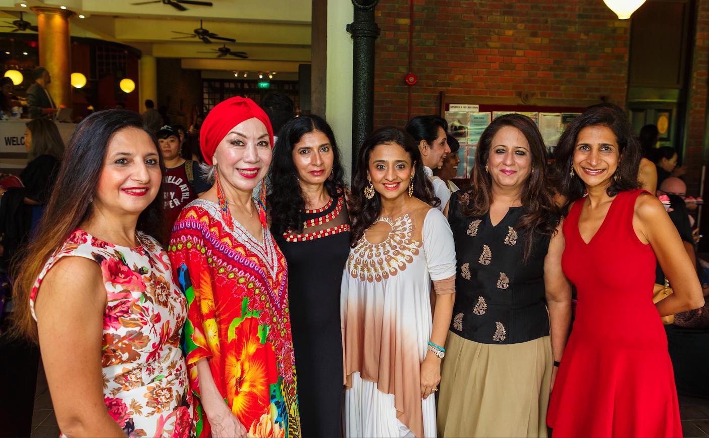 Arin Sen, Peggy Jeffs, Sunita Malik, Samia Khan, Lata Mahtani, Ravina Kriplani
