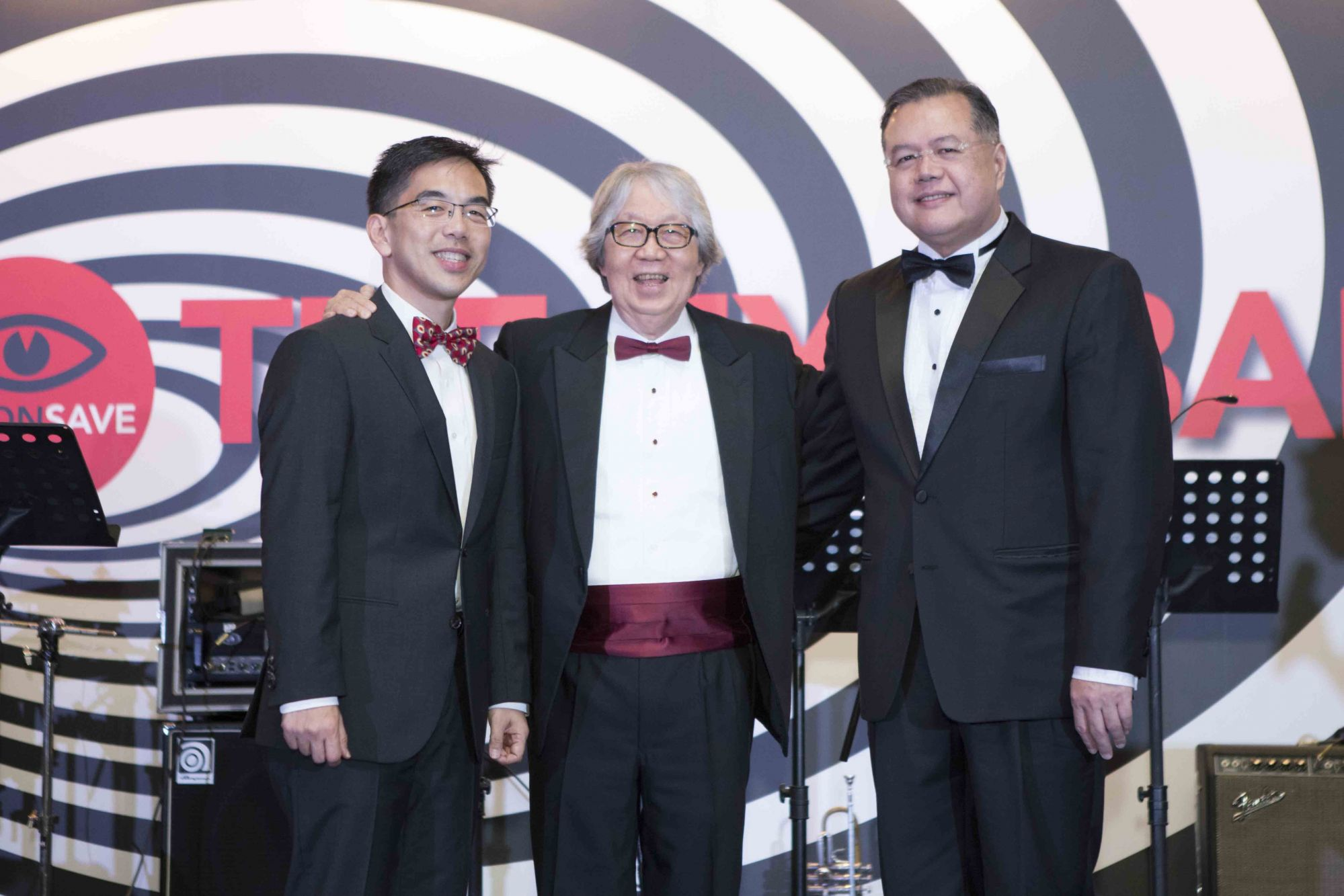 Wong Tien Yin, Tommy Koh, Aung Tin