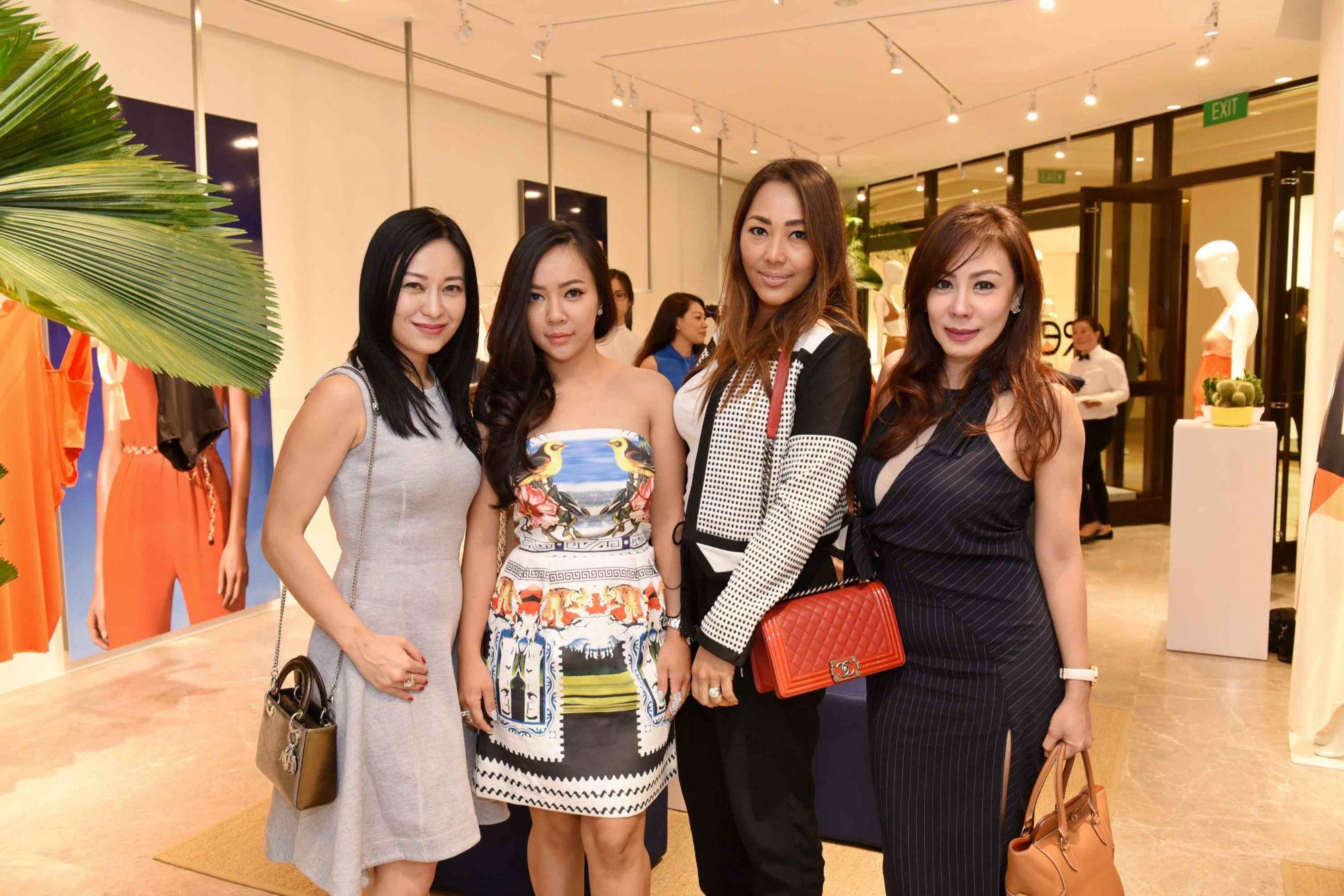 Nina Ng, friend, Soraya Wilson, Shirley Kuan