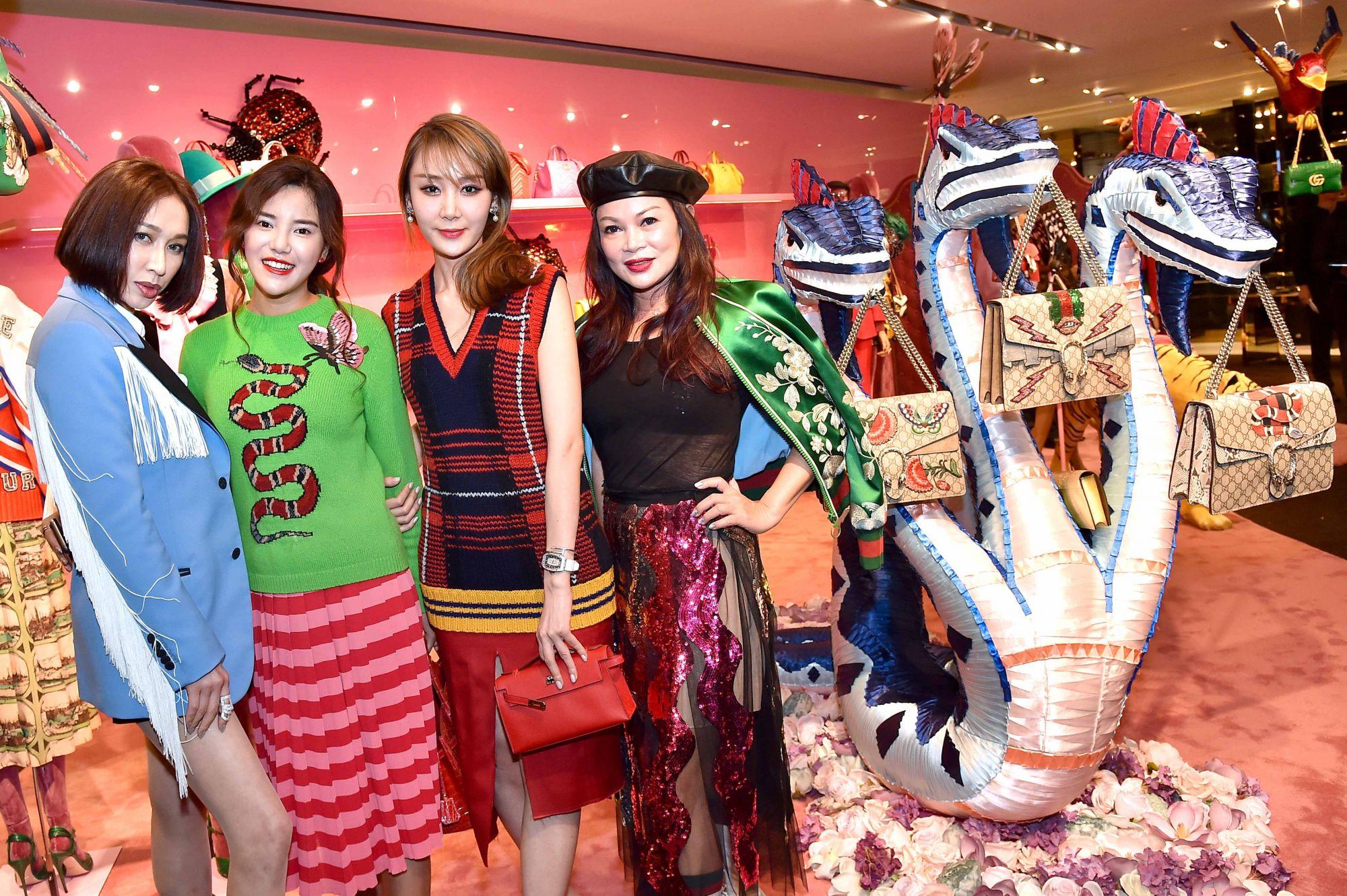 Grace Lau, Talia Wang, guest, Susanna Kang