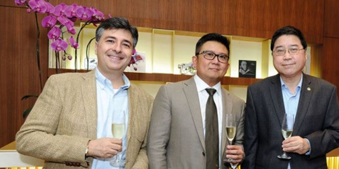 Stefano Di Domenico, Tay Kok Choon and Wong Yew Wah, at the Breguet, Innovations that Wrote History exhibition