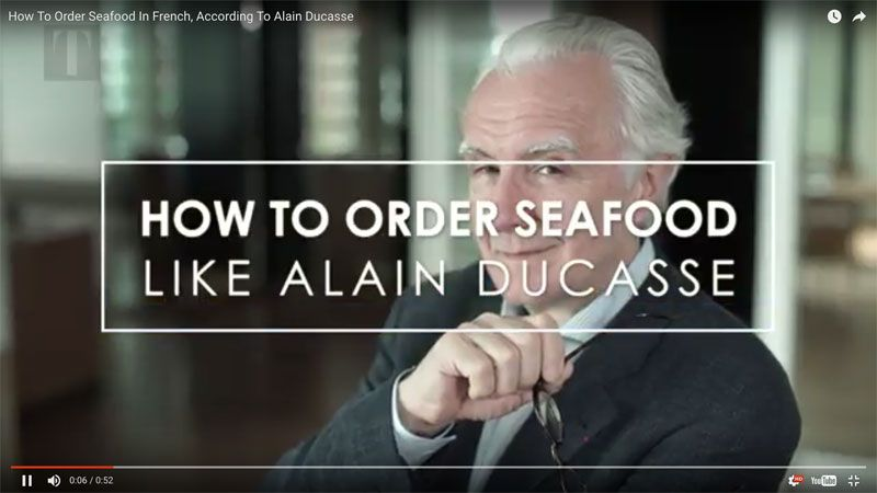 Alain Ducasse's Useful Guide To Ordering Seafood In French