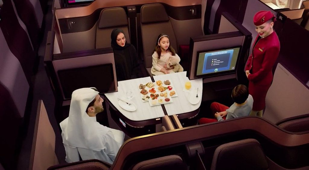 The New Qatar Airways Customisable Suite Is Great For Families