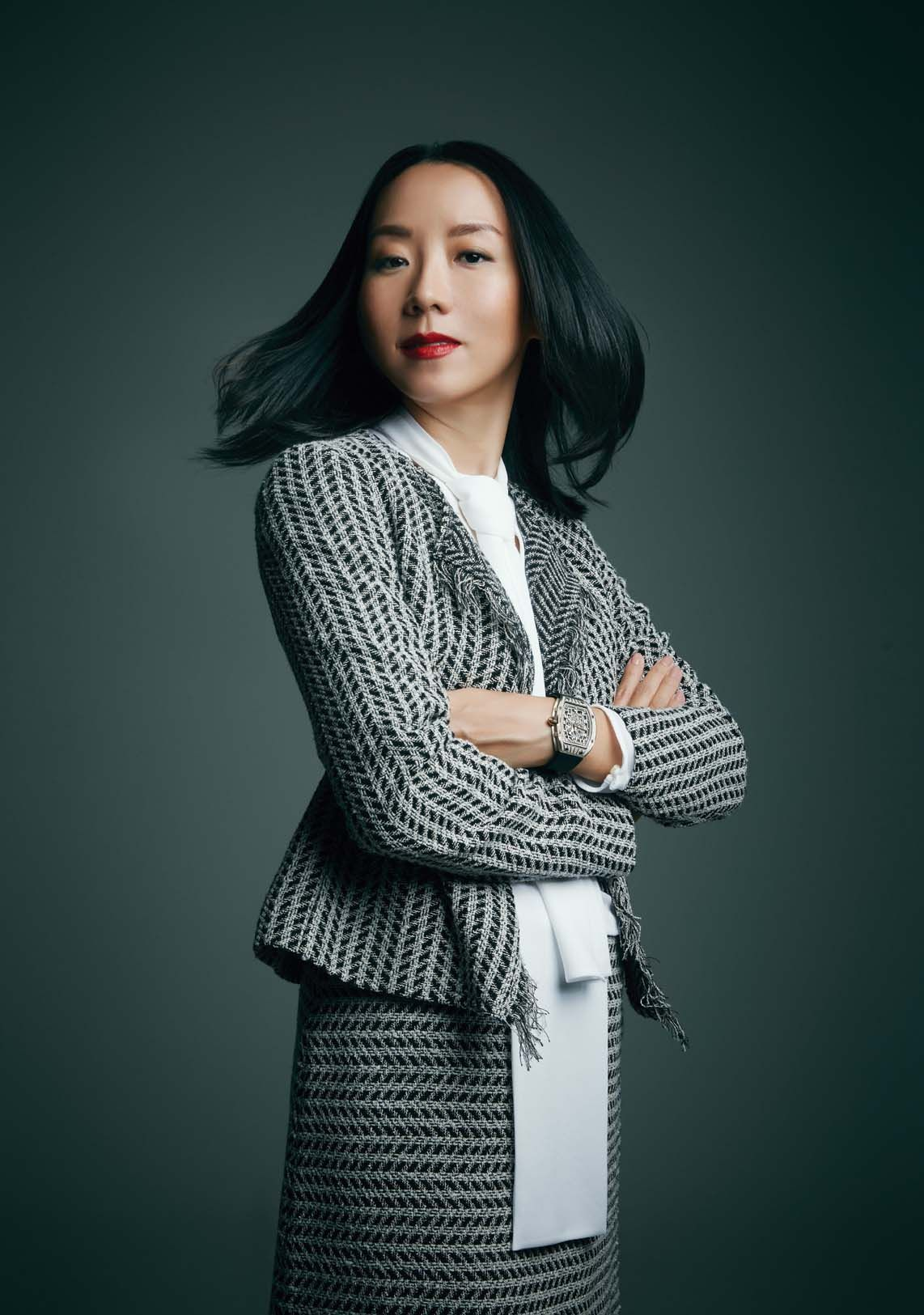 In Juliana Chan's books, the biggest crime a teammate can commit is to cut corners and take the easy way out. Juliana wears the RM 67-01 Extra Flat Automatic watch by Richard Mille; and outfit by Hugo Boss