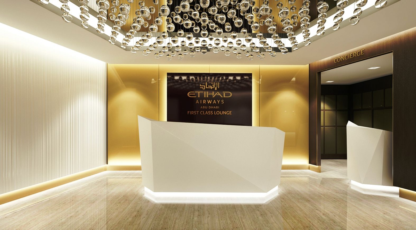 First Look: Etihad Airways' Swanky New First Class Lounge