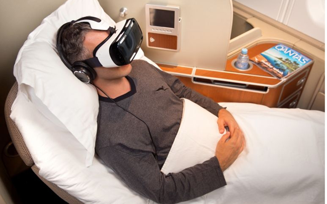 Qantas first class flyers to get VR headsets