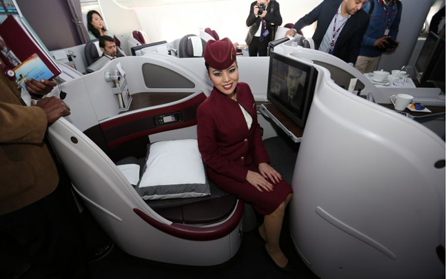 Qatar introduces double beds in business class cabins
