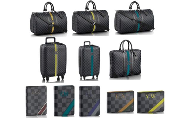 514c03dcbb72f Add your personal touch to Louis Vuitton s Mon Damier Graphite line ...