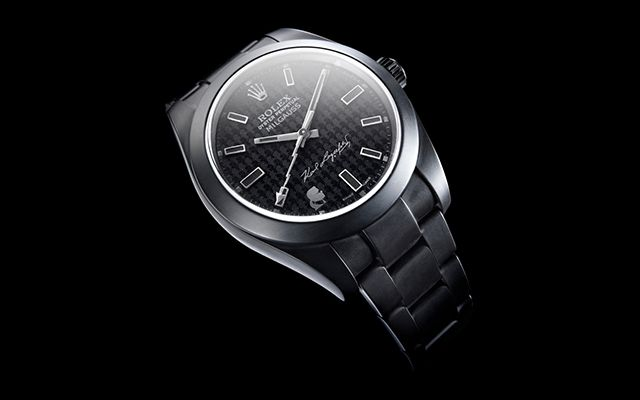 Karl Lagerfeld signs limited-edition Rolex