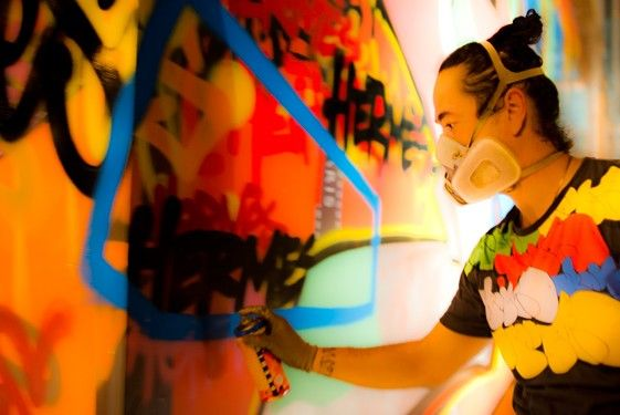 Graffiti Artist Kongo: Street Art and Silk Scarves