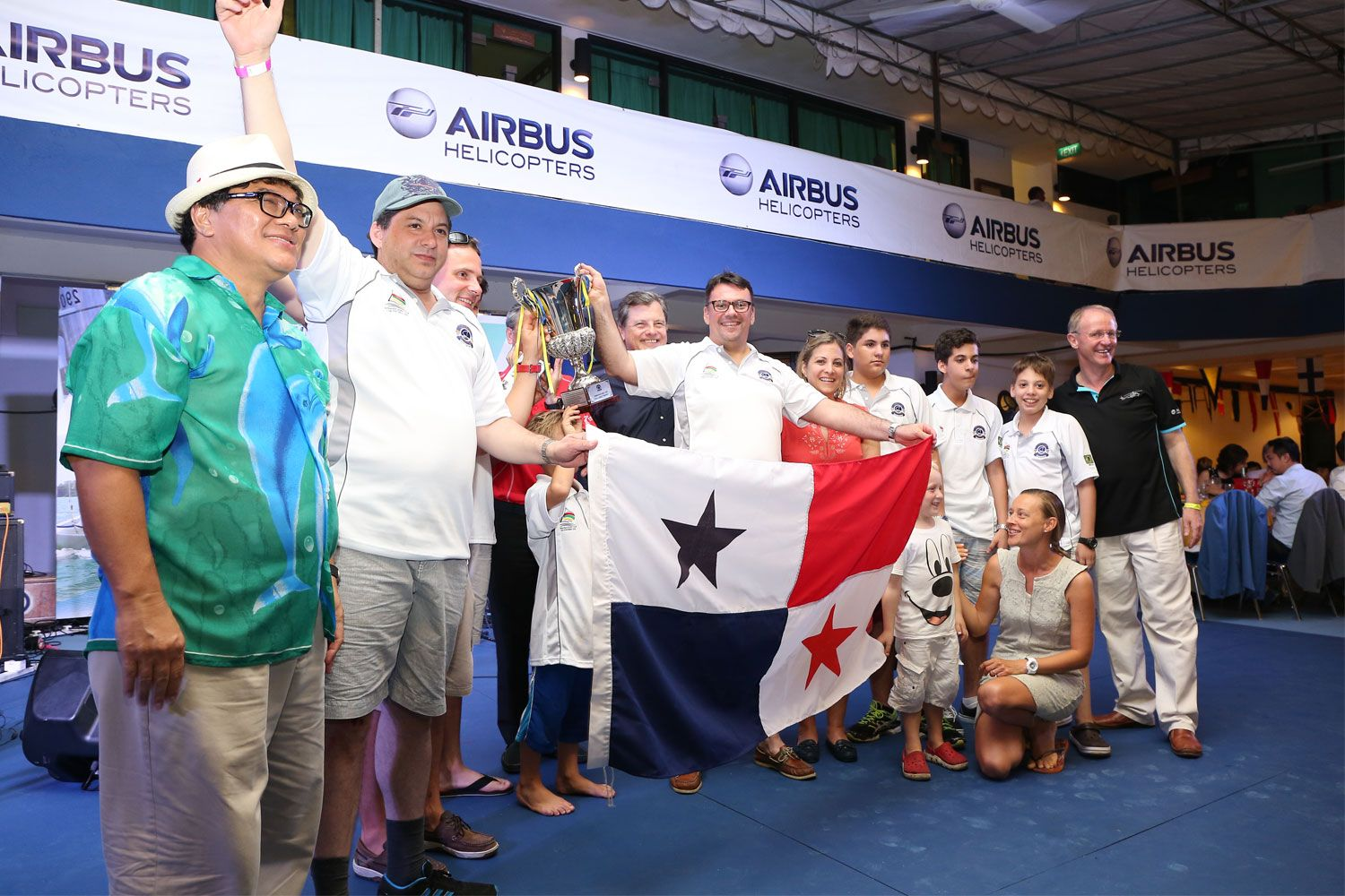 Team Panama as Champions of the Race