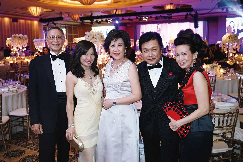 Lawrence Basapa, Tan Khar Nai, Ow Pui Yee, Victor Ow, and Celeste Basapa