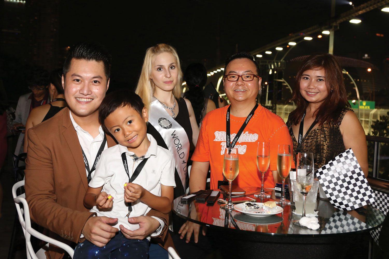 Dennis Yong & Family, with WOD Brand Ambassador