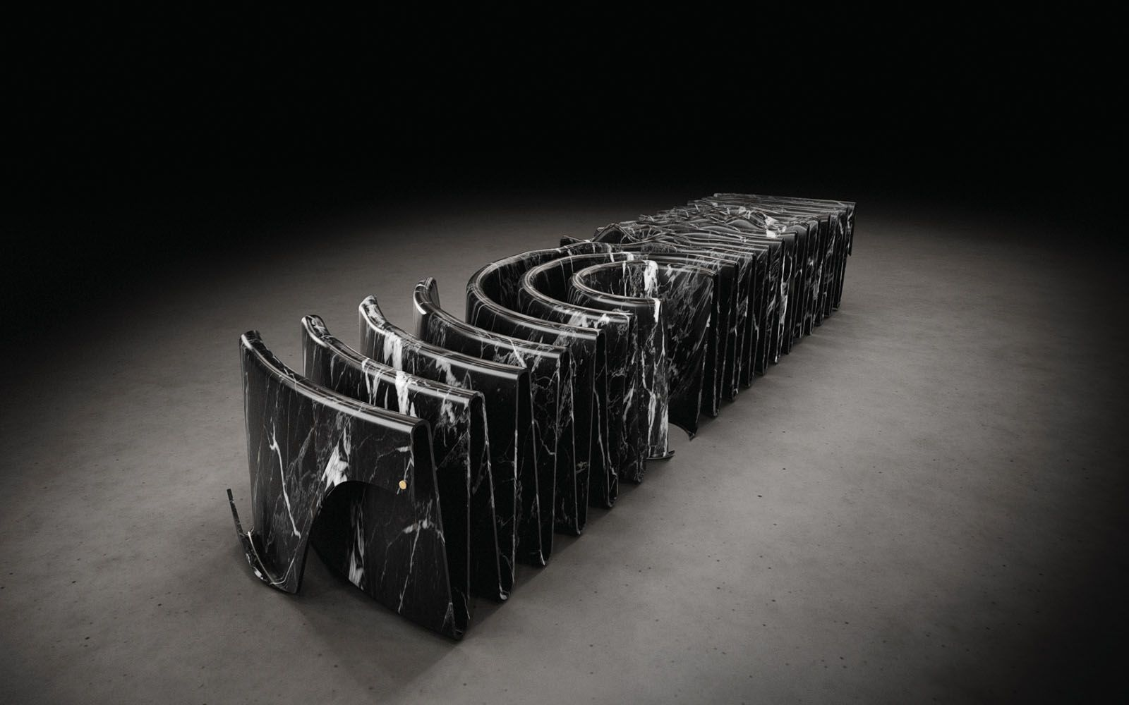 Designers Imagine What Bended Marble Furniture Could Look Like