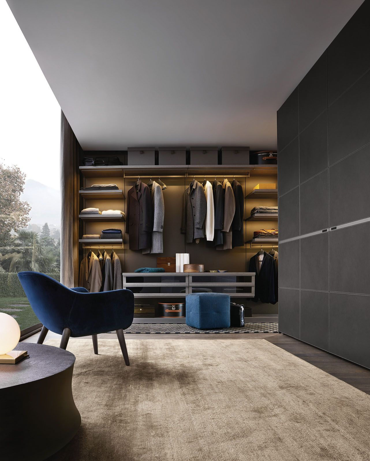 Poliform Ubik walk-in wardrobe, from Space Furniture