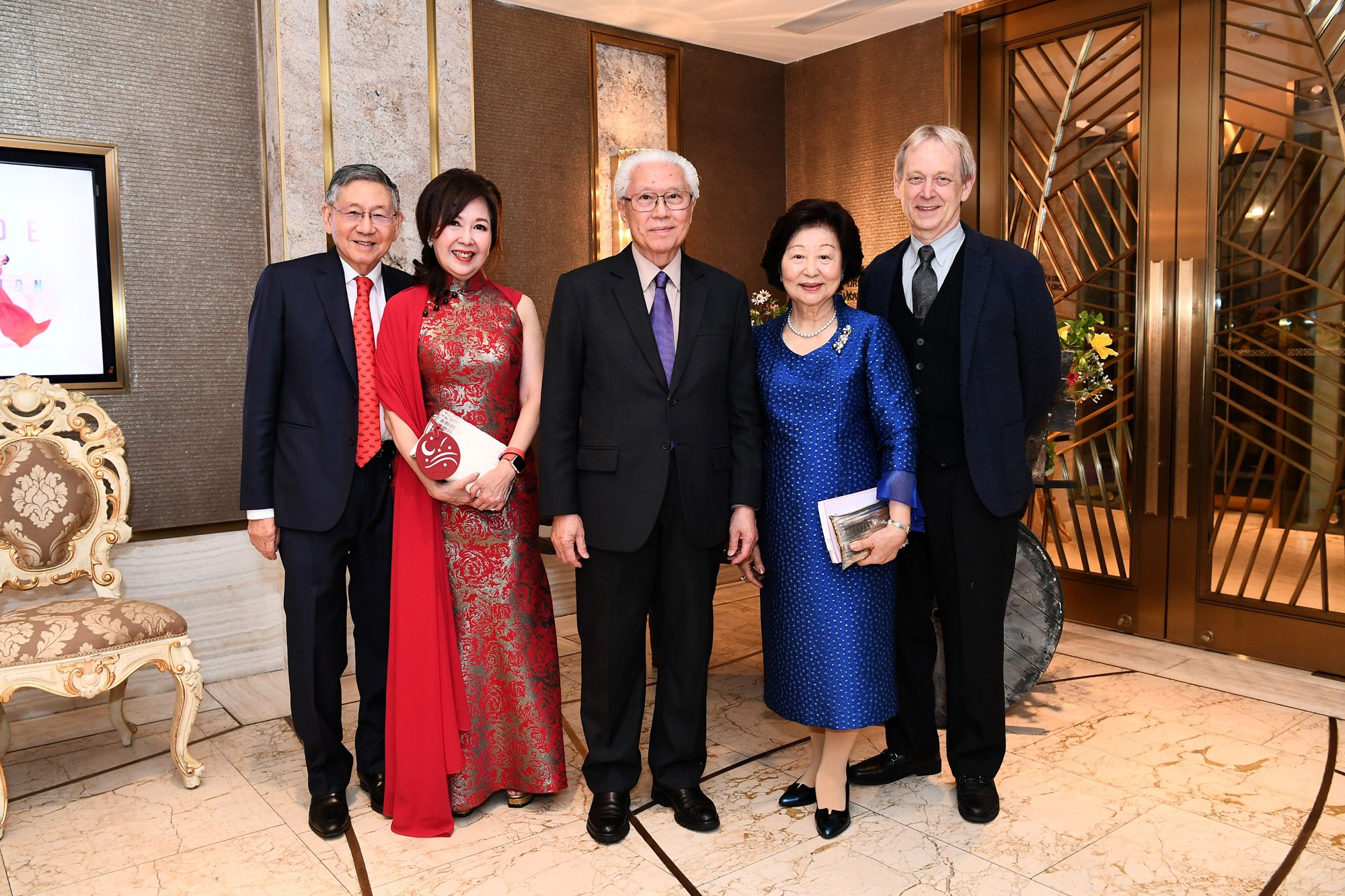 Michael Hwang, Laura Hwang, Tony Tan Keng Yam, Mary Tan, Janek Schergen