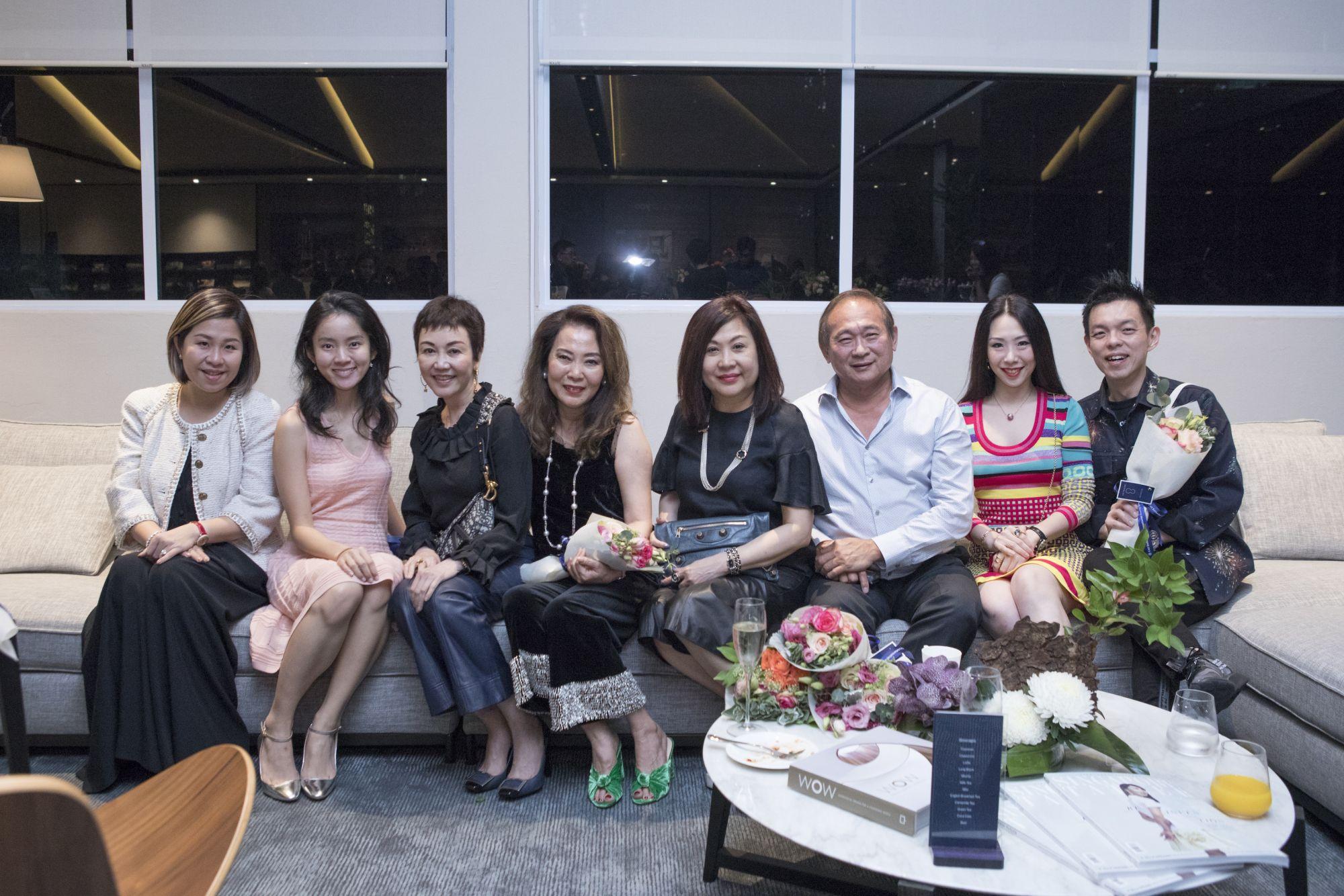 Angela Ang, Mae Ang, Emily Piak, Joyce Ang, Lilian Low, Richard Low, Loh May-Han, Adrian Ng