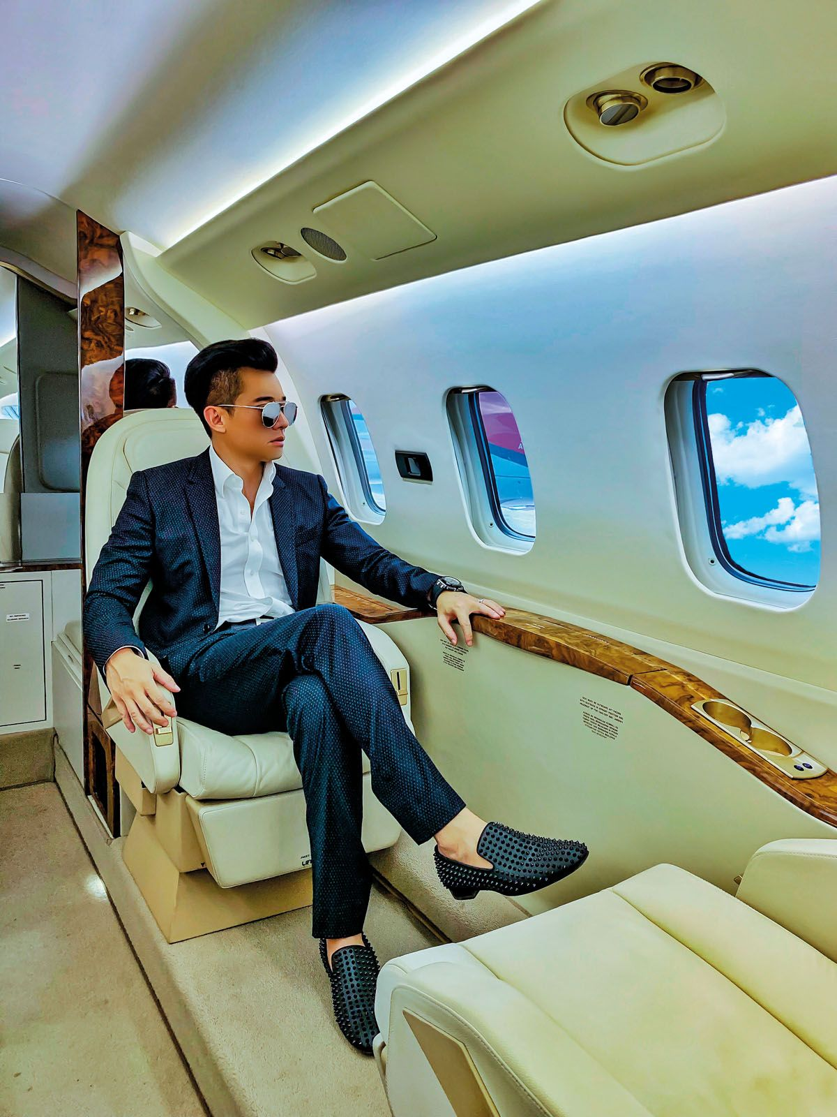 With his hectic work schedule taking him across continents, sometimes in the span of a couple of days, New often travels by private jet where he is able to enjoy some peaceful alone time, away from the hustle and bustle