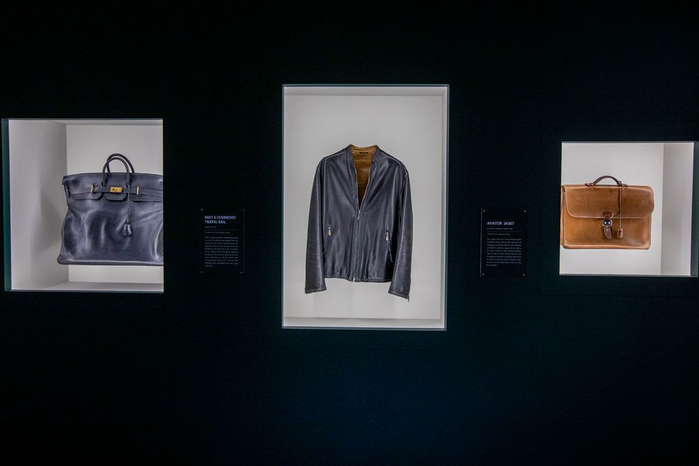 On display were pieces by Hermès clients showing a lovely patina and the stories behind them