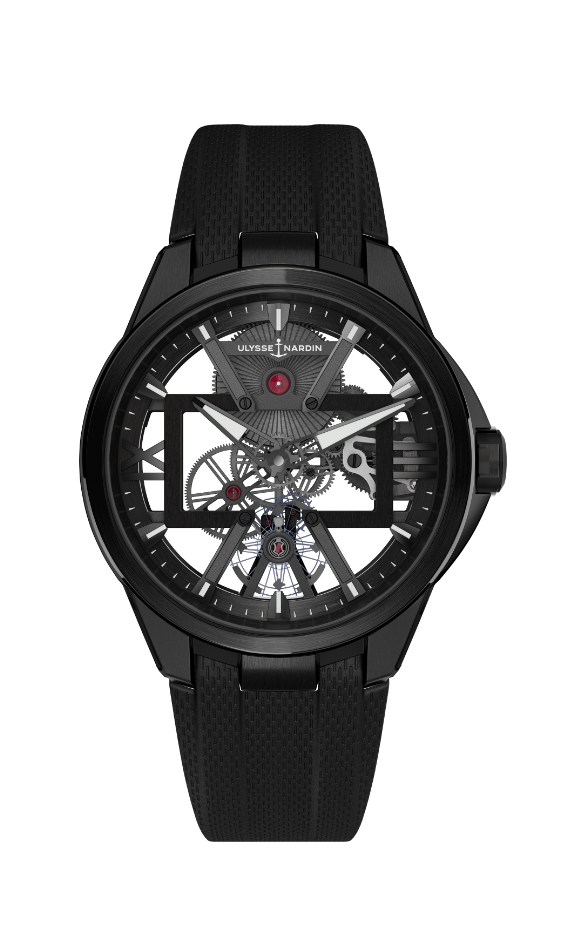 Ulysse Nardin Skeleton X in titanium with a black DLC coating