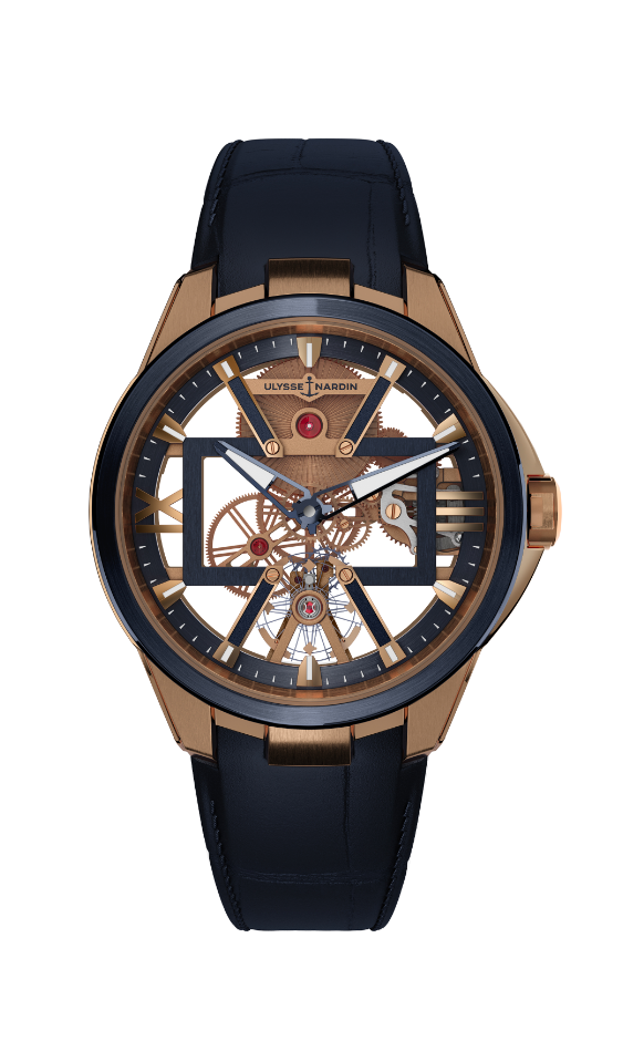 Ulysse Nardin Skeleton X in rose gold
