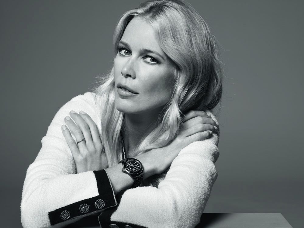 Supermodel, producer and muse of the J12, Claudia Schiffer (Photo: Courtesy of Chanel)
