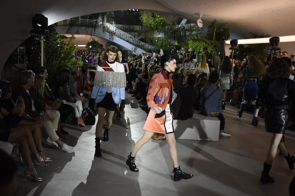 OLED Screen Bags Debut At Louis Vuitton's Cruise 2020 Show In New York