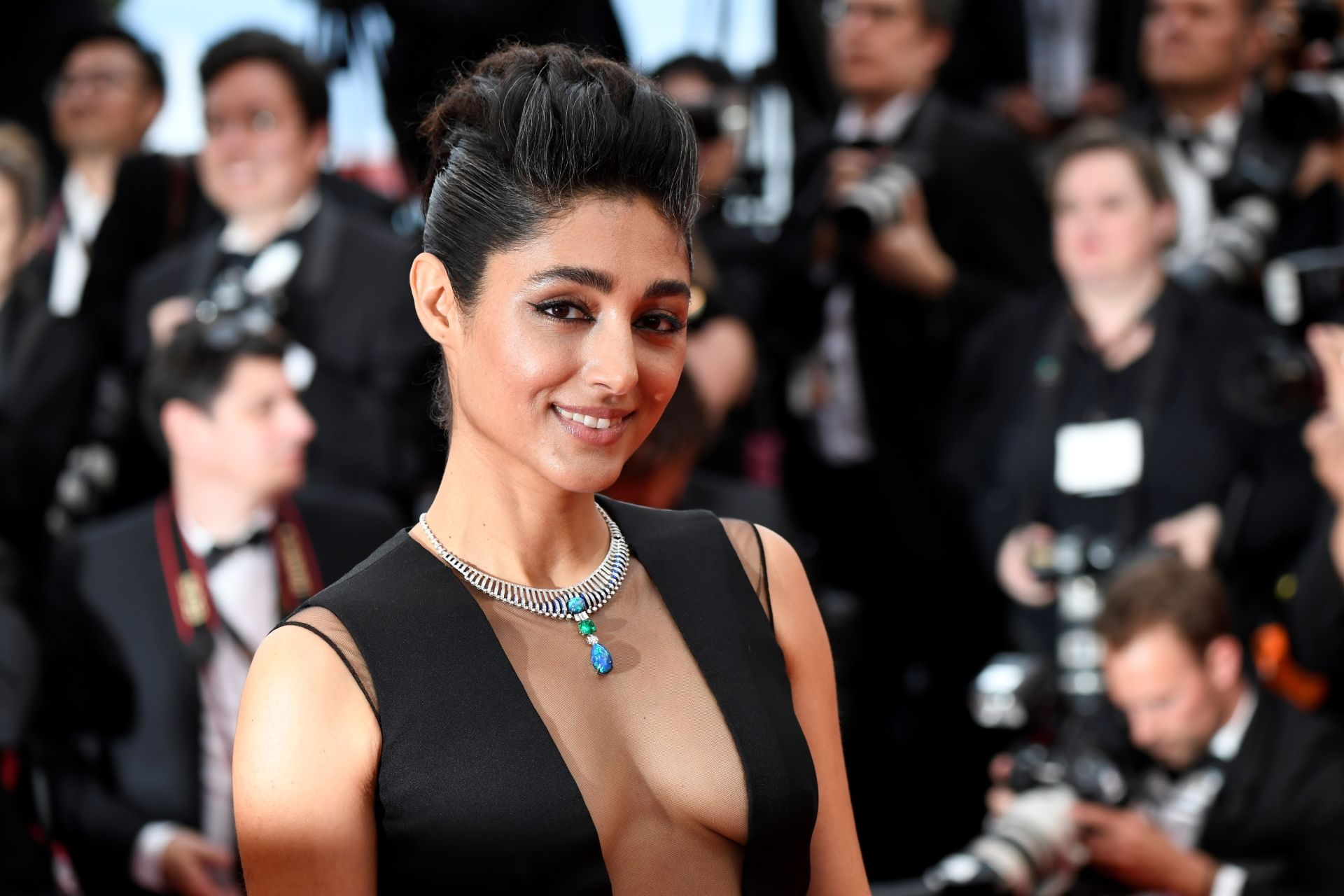 "French-Iranian actress Golshifteh Farahani poses as she arrives for the screening of the film ""The Dead Don't Die"" during the 72nd edition of the Cannes Film Festival in Cannes, southern France, on May 14, 2019. (Photo by CHRISTOPHE SIMON / AFP)"