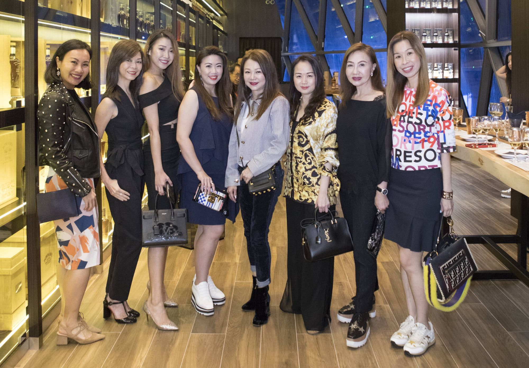 Karen Ang, Dolly Cheong, Symone Oei, Siow Yin Yin, Angela Ng, Tanya Tan, Maria See, Stephanie Tay