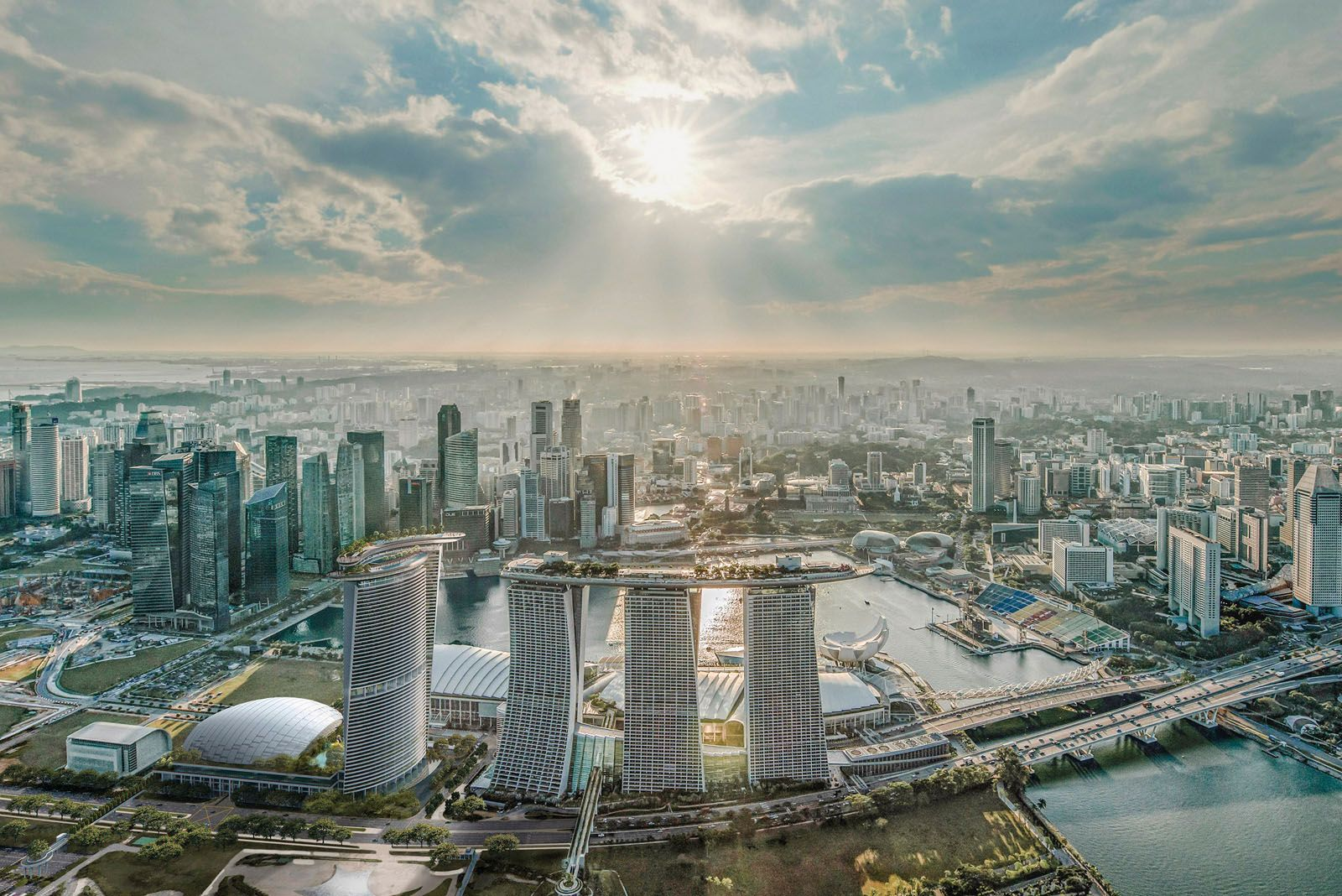 A fourth tower will soon be added to the Marina Bay Sands complex